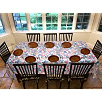 """Covers For The Home Deluxe Stitched Edged Flannel Backed Vinyl Drop Tablecloth - Butterfly Pattern - 54"""" x 72"""" - Oval"""
