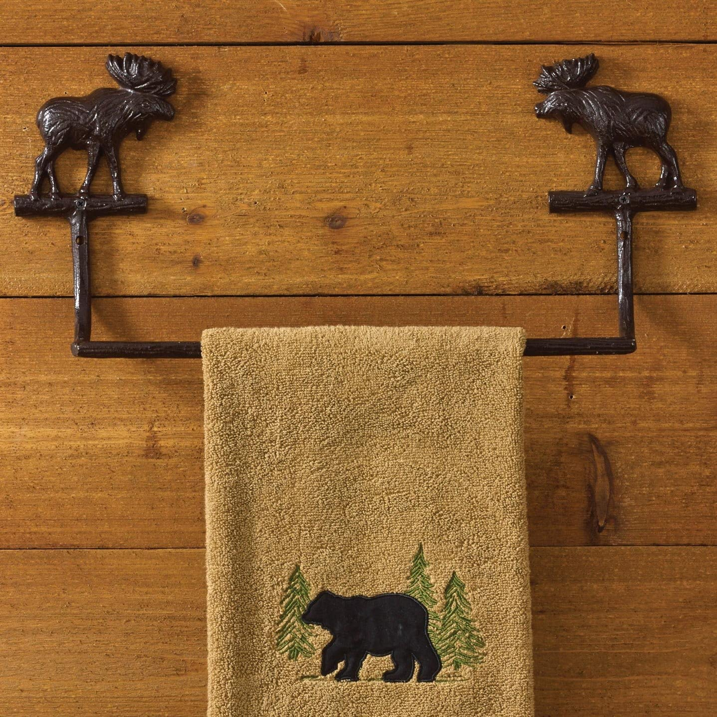 "Park Designs Cast Moose Towel Bar - 16"""