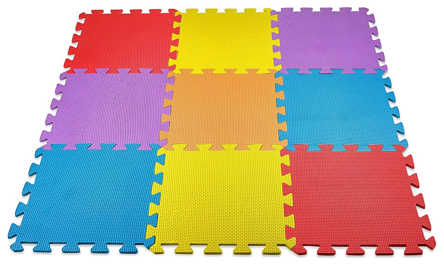 PowerTRC EVA Solid Foam Exercise Mat Safety Play Floor Mat For Kids 10 Square Ft
