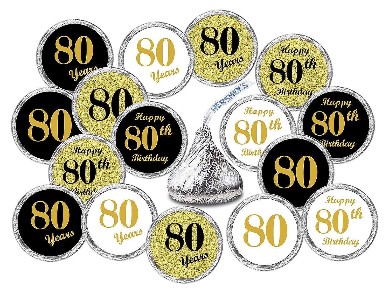 Amazon 80th Birthday Kisses Stickers Set Of 324 Chocolate