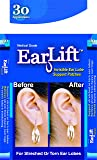 Earlift Invisible Ear Lobe Support Waterproof Medical Patches in ZipLock Pouch (Pack of 30)