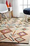 """nuLOOM Ivory Hand Tufted Belini area rug Area Rug, 7' 6"""" x 9' 6"""""""