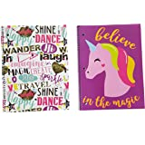 Couture Fashion 70 Sheet Wide Ruled Spiral Notebooks (Unicorn)