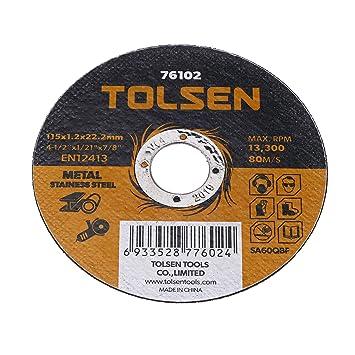 Tolsen PN18081610040174351 Disco de cortar de amoladora para ...