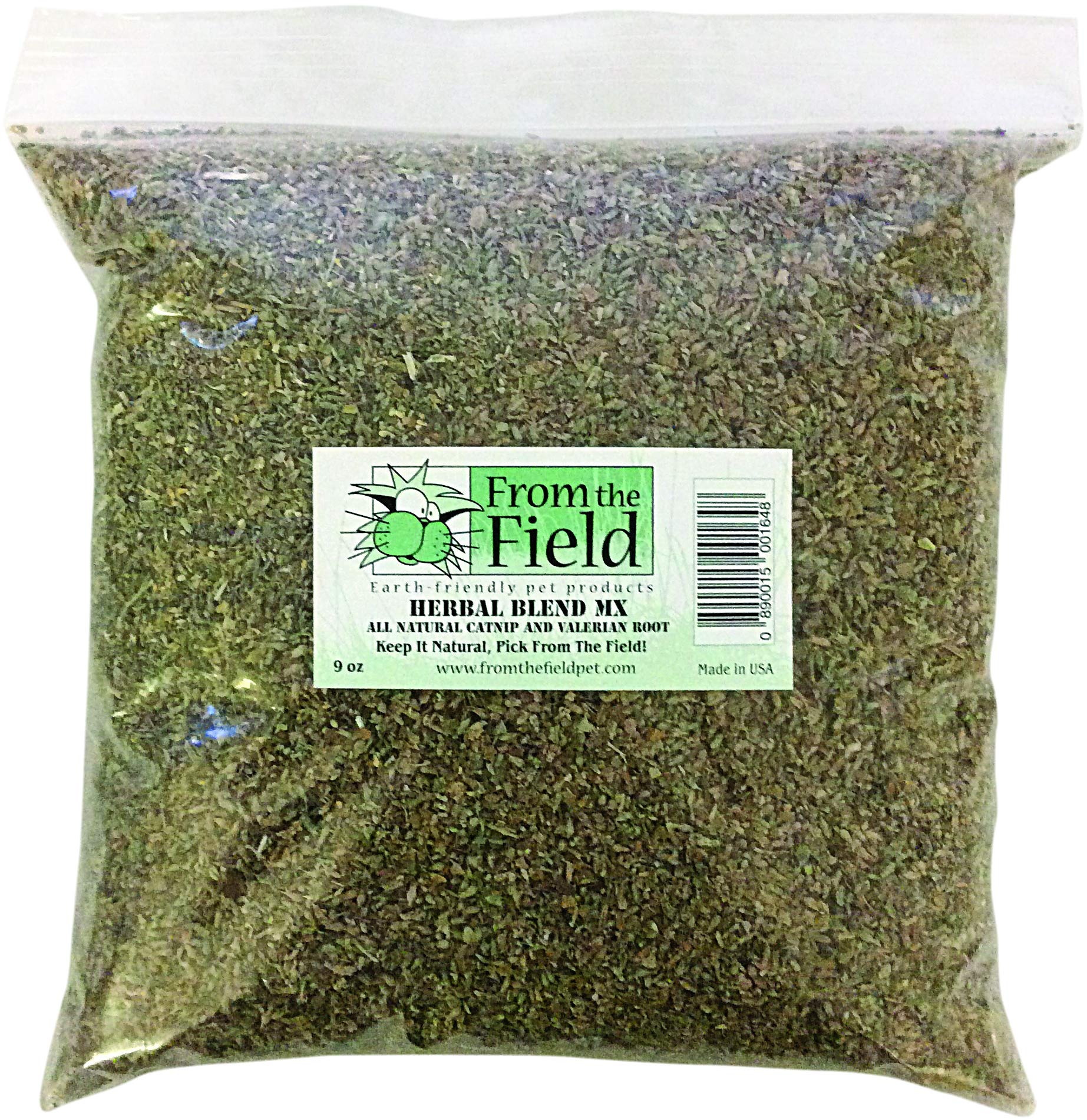 From The Field Herbal Blend MX Catnip & Valerian Root Bag 9 oz Bag