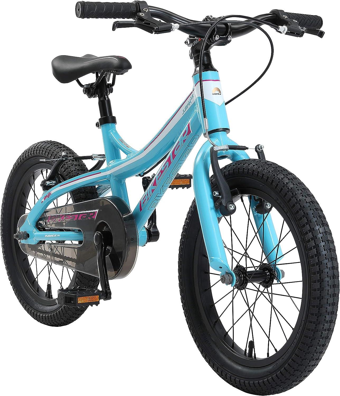 BIKESTAR Bicicleta Infantil Aluminio para niños y niñas a Partir de 4 años   Bici 16 Pulgadas con Freno en V   16