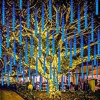 LED de Meteoros Lluvia Luces Guirnalda, Rilitor Luz de Lluvia de Meteoros 30cm 8 Tubos 192 LEDs IP65 Impermeable para…