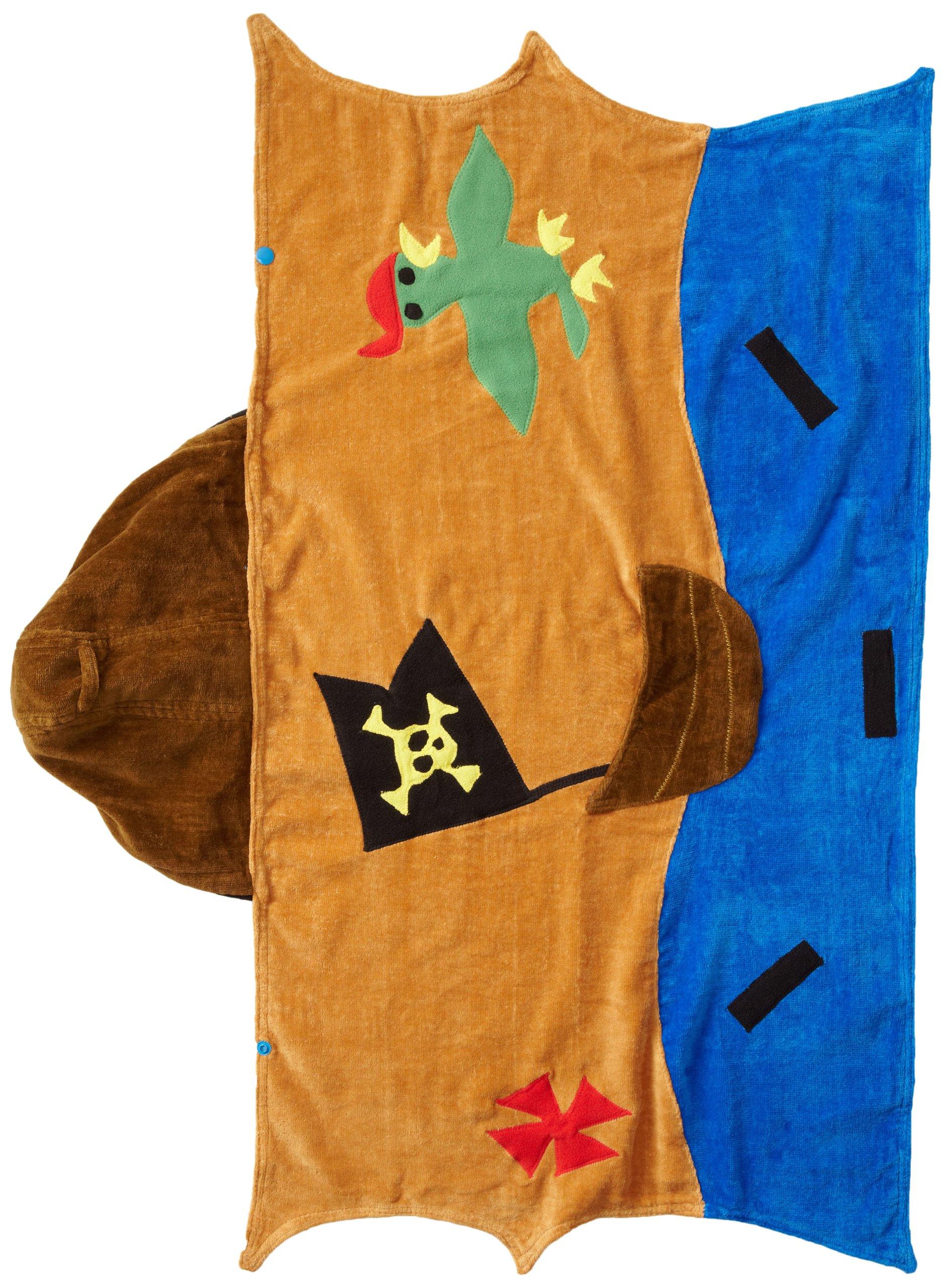 Kidorable Pirate Toddler Towel, Brown, Medium, 3-6 Years by Kidorable (Image #2)