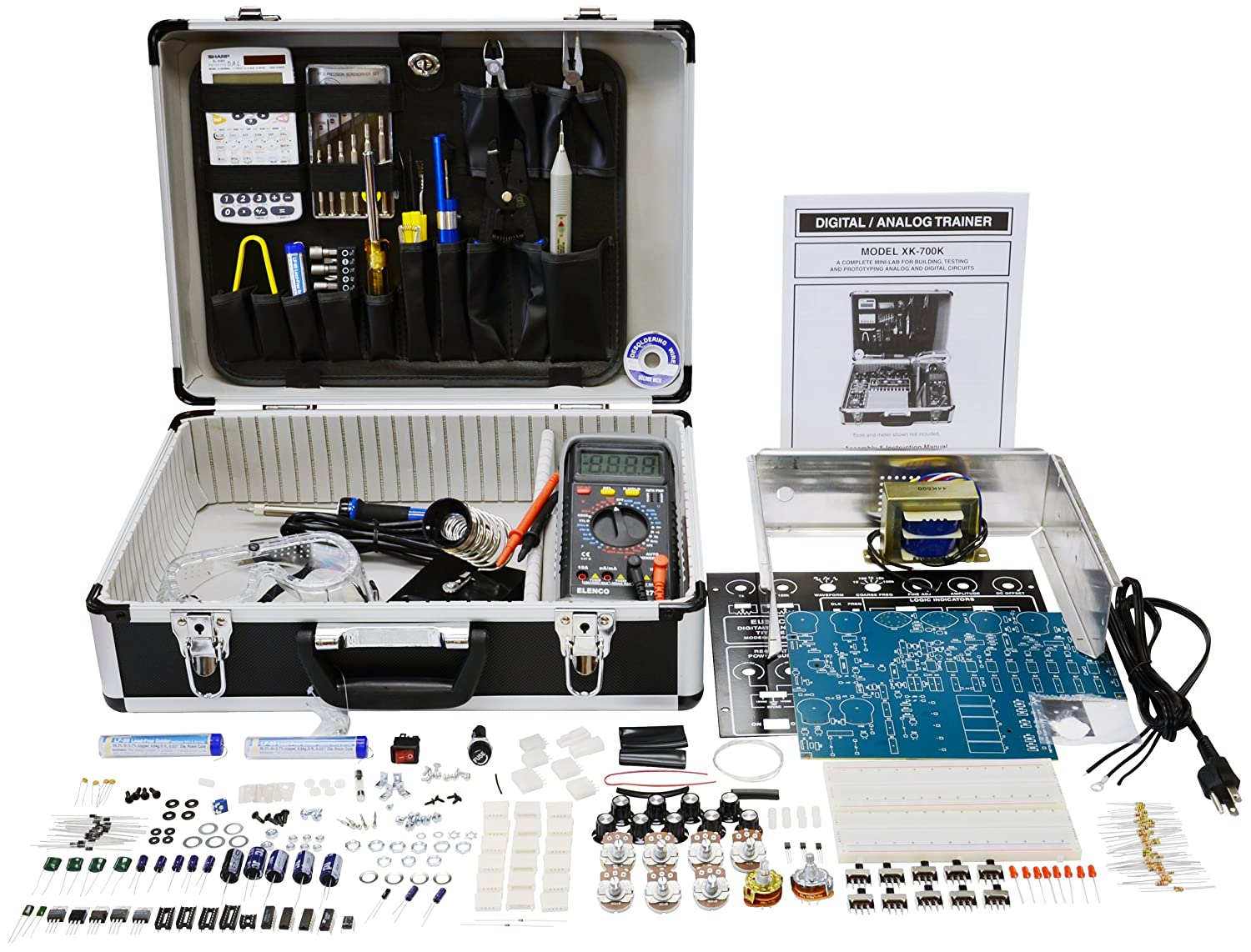 Elenco XK700TK Digital/Analog Trainer with Tools - Electronics And  Electricity Science Kits - Amazon.com
