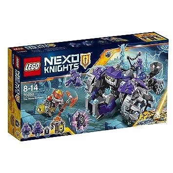 LEGO Nexo Knights - Los Tres Hermanos, Set de Construcción con Criaturas de Piedras de Juguete y Guerreros (70350)