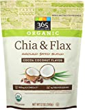 365 by Whole Foods Market, Organic Ground Seed Blend, Chia & Flax - Cocoa Coconut Flavor, 12 Ounce