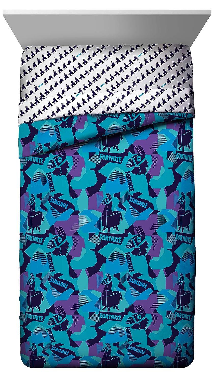 Jay Franco Fortnite Llama Geo Twin Comforter - Super Soft Kids Reversible Bedding - Fade Resistant Microfiber (Official Fornite Product)