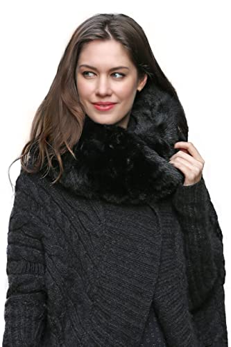 Favolosa sciarpa infinita scaldacollo Adelaqueen per donna, in finta pelliccia, vari colori