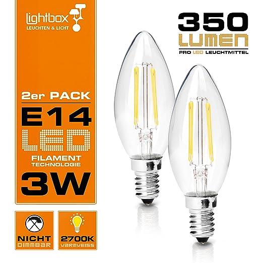 (2er Pack) E14 LED 3 W lámpara, 350 lumens (equivalente a 25
