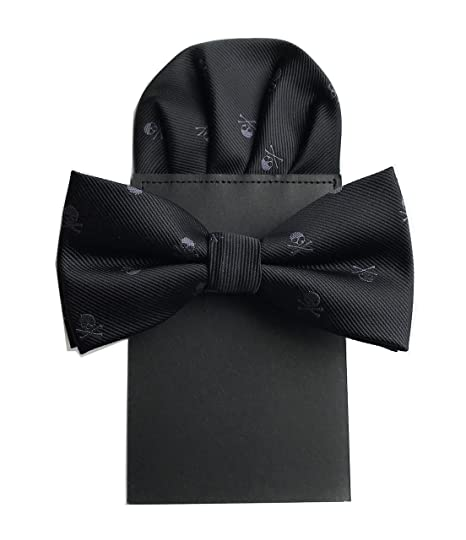 942c0fa69c53 Amazon.com: Mens Bowties and Pocket Squares Special Pattern Pre-Tied Men  Bow Tie Necktie Set: Clothing