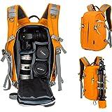 Beaspire DSLR Camera Backpack Sling Travel Photography Bag for Canon Nikon Sony Olympus Panasonic Pentax Camera Tripod and Digital Accessories Man and Woman(Orange)