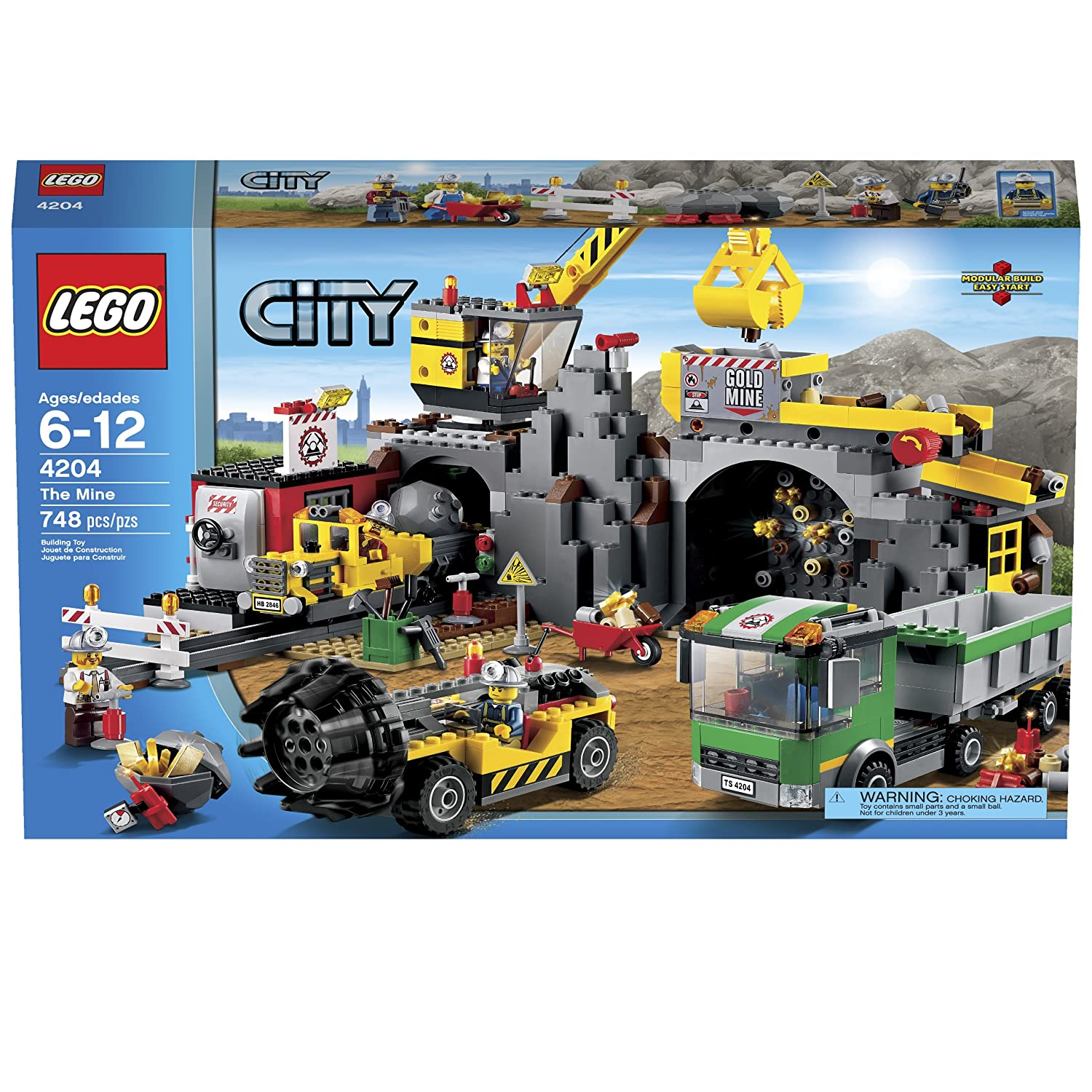 amazon com lego city 4204 the mine discontinued by manufacturer