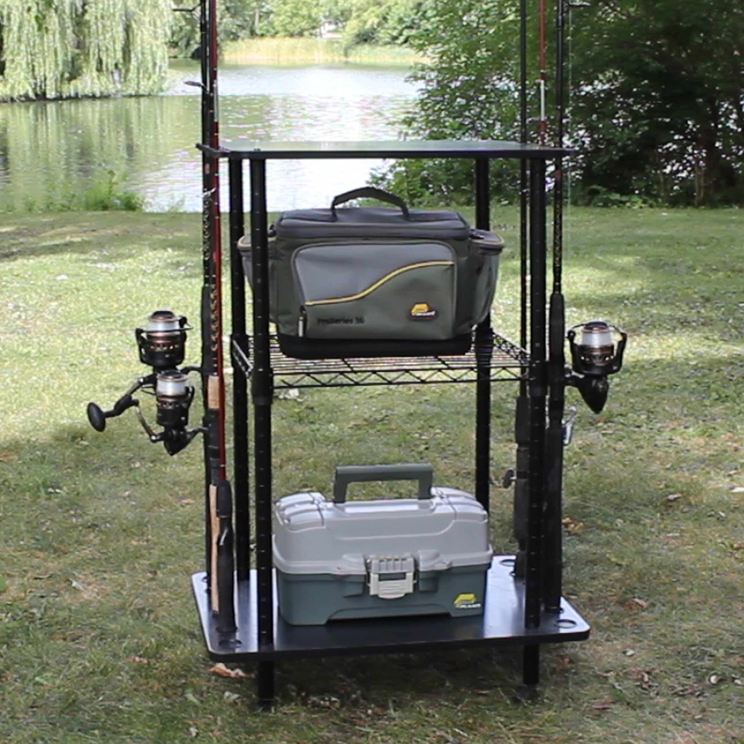 Rush Creek Creations 12 Fishing Rod Storage Tackle Cart - Durable Finish - 5 Minute Assembly by Rush Creek Creations (Image #7)