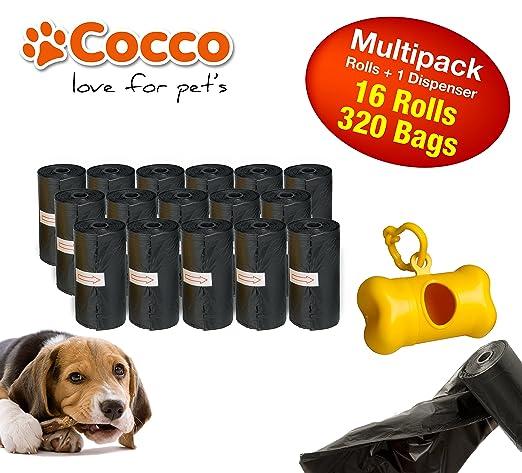 9 opinioni per Sacchetti igienici per cani con dispenser in plastica. Confezione da 320 pezzi.