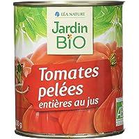 Jardin Bio Tomates Entières Pelées au Jus 800 g - Lot de 3