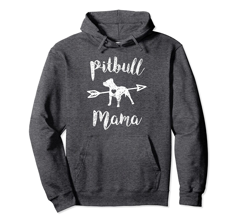 Proud pitbull mama womens hoodie sweater dog mom-TH