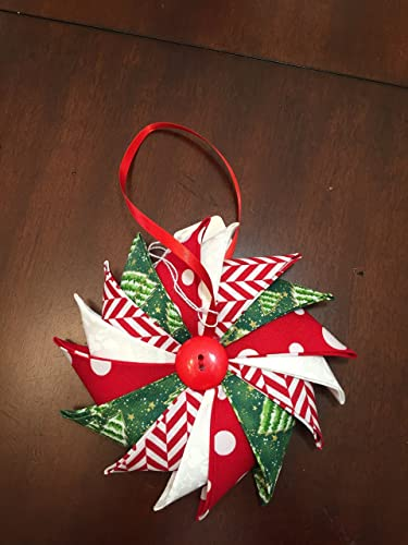 Amazon Com Handmade Fabric Pinwheel Christmas Ornament Door Cabinet