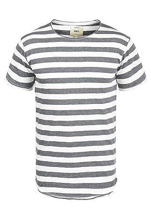 Redefined Rebel Milo Herren T-Shirt Kurzarm Shirt Mit Streifen Und  Rundhalsausschnitt  Amazon.de  Bekleidung a7ef97058e