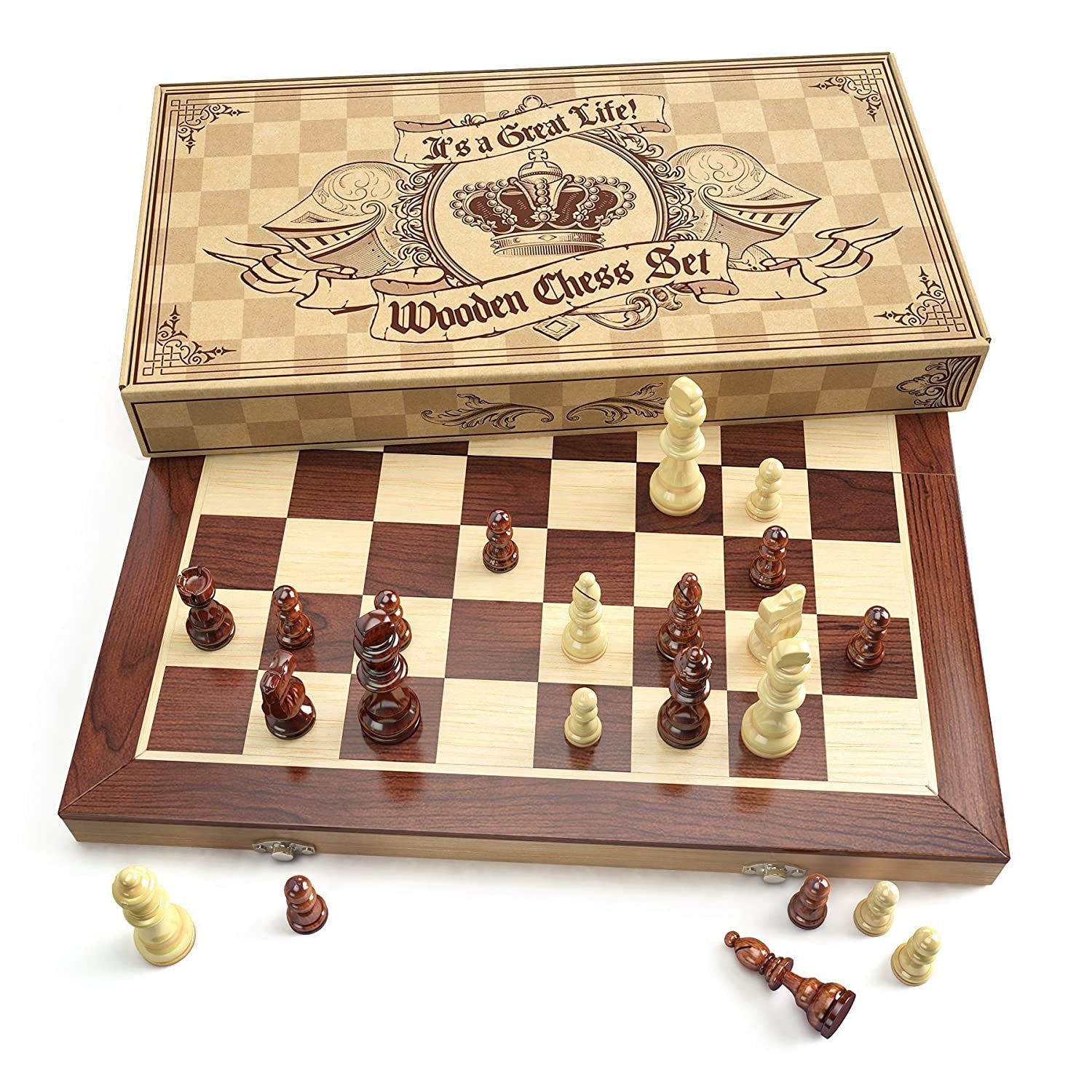 enjoyable ideas cheap chess sets. Amazon com Wooden Chess Set Universal Standard Board Game Handcrafted Wood  Pieces Pawns With 15 inch and with Magnet enjoyable ideas cheap The Best 100 Enjoyable Ideas Cheap Sets Image Collections