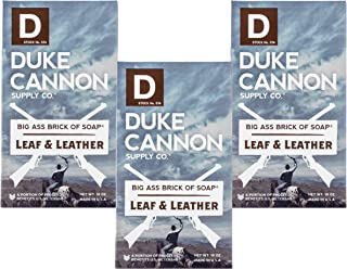 "product image for Duke Cannon""Great American Frontier"" Men's Big Brick of Soap - Leaf + Leather, 10 oz (3 Pack)"