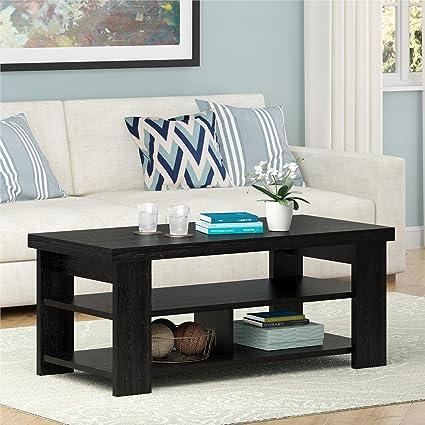 Ameriwood Home Jensen Coffee Table, Multiple Colors (Coffee Table, Black  Oak)
