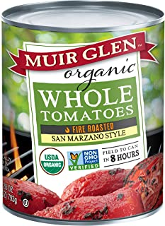 product image for Muir Glen Organic San Marzano Style Fire Roasted Whole Tomatoes, 28 Ounce - 6 per case.
