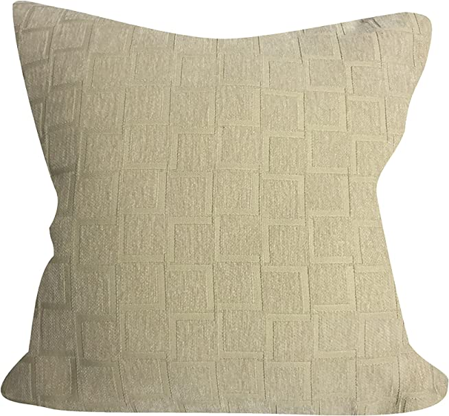 Amazon Com Urban Loft By Westex Broken Bricks Ivory Feather Filled Decorative Throw Pillow Cushion 20 X 20 Home Kitchen