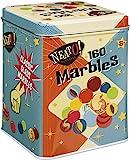 Toysmith Neato! Classics 160 Marbles In A Tin Box by Toysmith - Retro Nostalgia Glass Shooter, Marble Games Are Timeless…