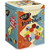Toysmith Neato! Classics 160 Marbles In A Tin Box by Toysmith - Retro Nostalgia Glass Shooter, Marble Games Are Timeless Play