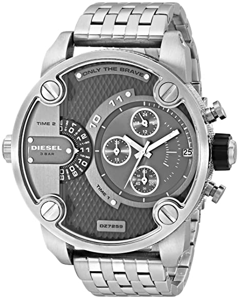 Diesel Men s DZ7259 The Daddies Series Analog Display Analog Quartz Silver  Watch  Diesel  Amazon.ca  Watches 8b7fd90127c