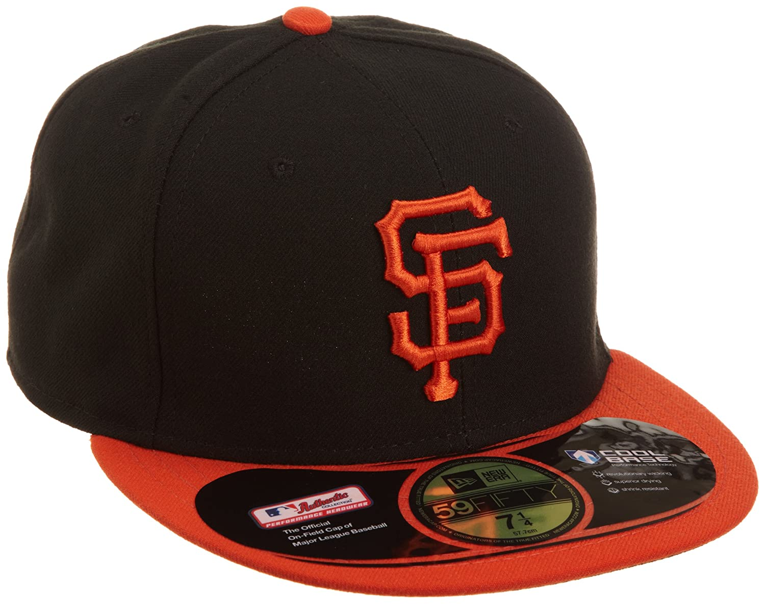 factory authentic a9d47 67147 New Era 70035114, MLB San Francisco Giants Authentic on Field Alternate 59Fifty  Fitted Cap, Black Orange, 7 3 8, Baseball Caps - Amazon Canada