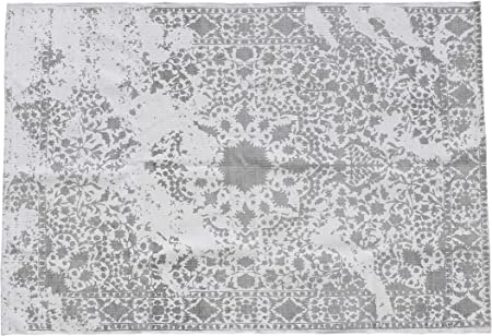 La Villa pe181115 Alfombra, algodón, Natural/Gris, 120 x 180 cm: Amazon.es: Hogar