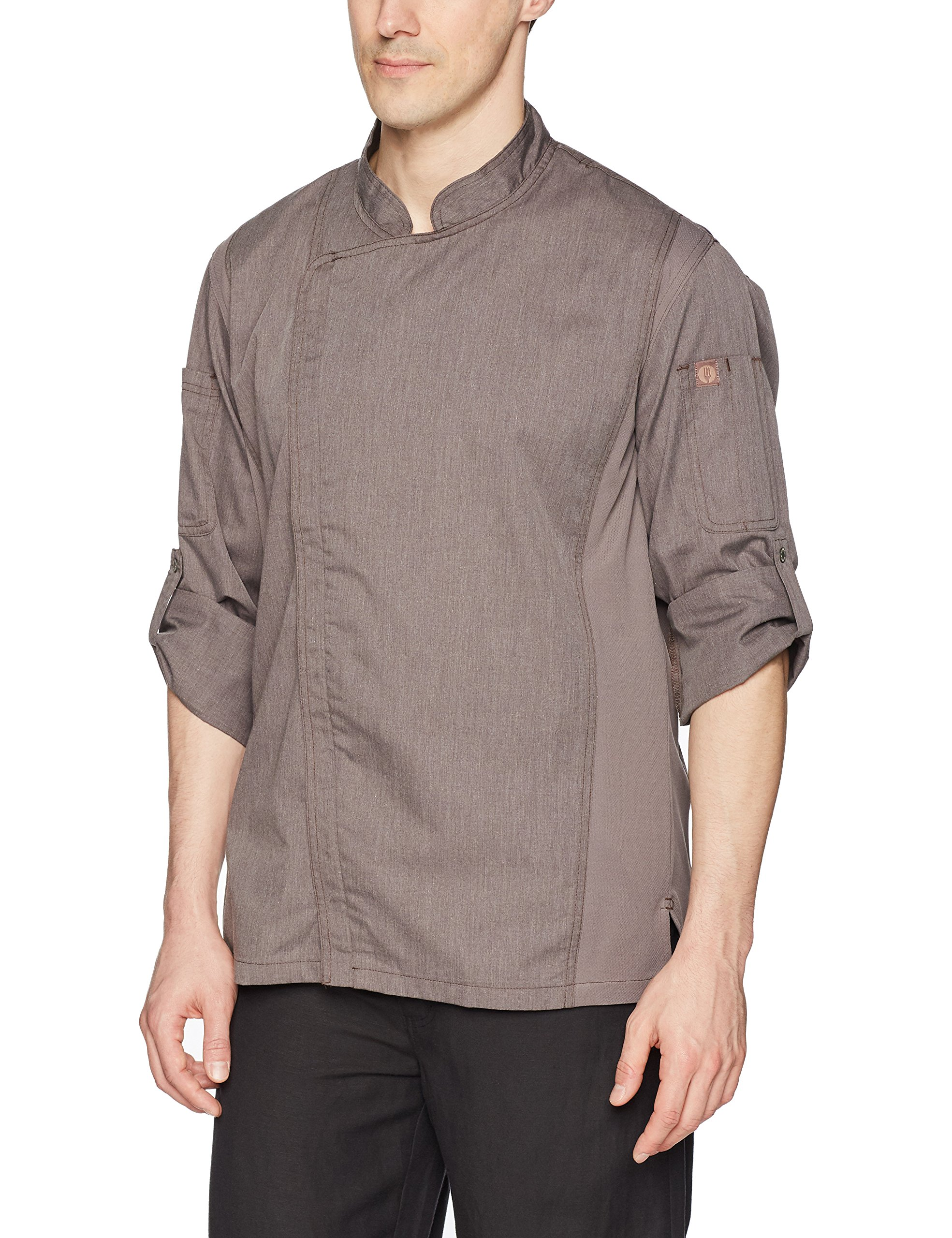 Chef Works Men's Hartford Chef Coat, Graphite Gray, Large