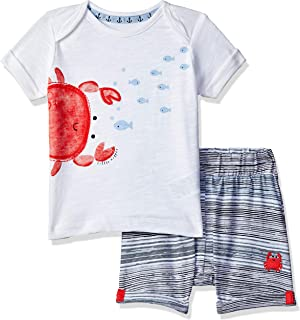 Yellow,6-12 Month 0yedens Newborn Toddler Kids Baby Boys Girls Short Sleeve Catoon Airplane T-Shirt /& Stripes Short Pants Outfits Set
