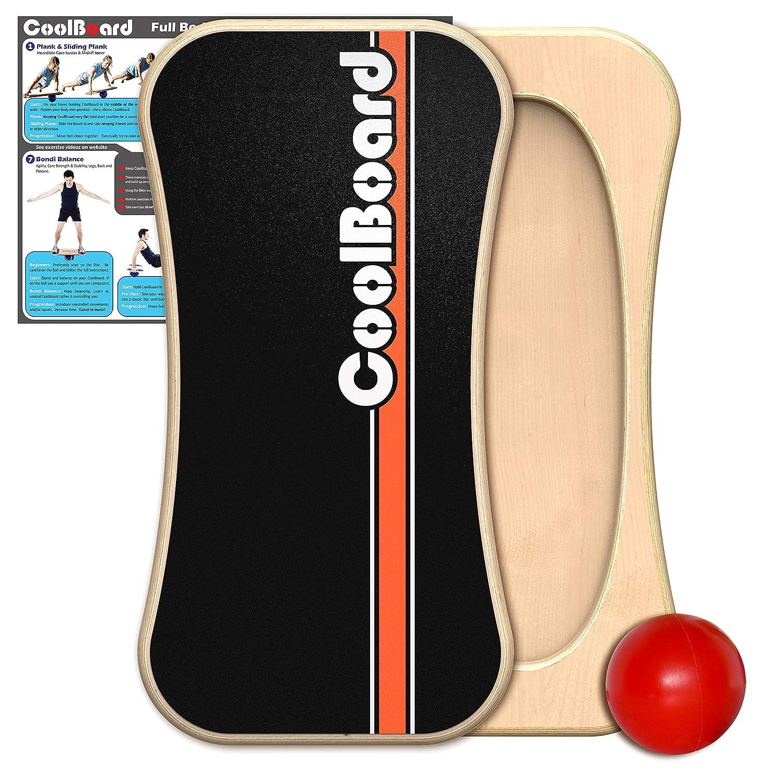 Coolboard Planche d'équilibre–La seule véritable Full 3d/360équilibre et d'exercice d'entraînement Board–Grande avec Standard Speed 15,2cm Pro Boule. débutant
