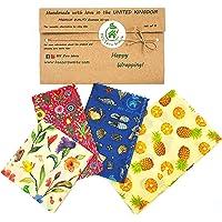 Envolturas de cera de abejas, juego de 4, colores aleatorios, BEE Zero Waste, UK HANDMADE, alternativa natural a la…