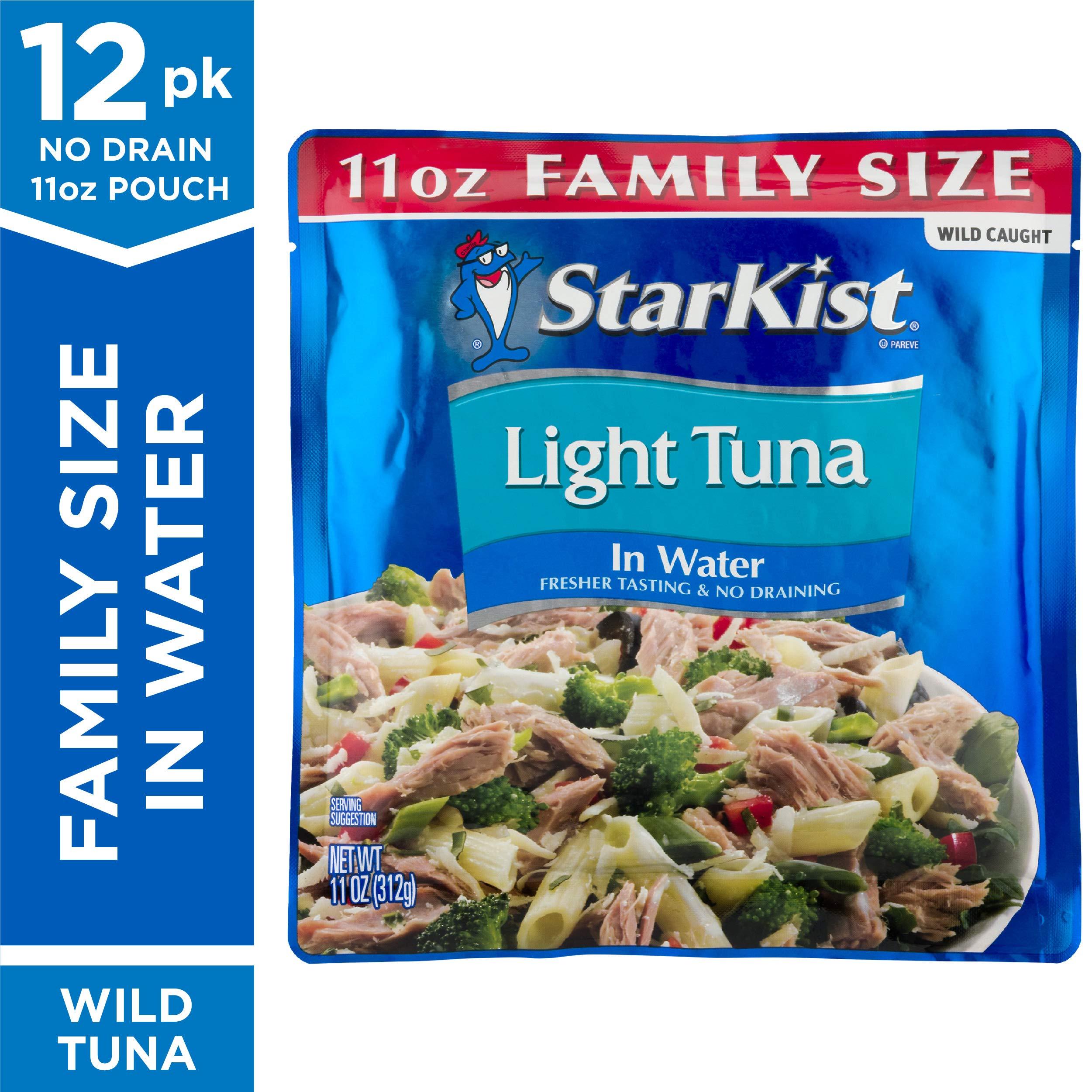 StarKist Chunk Light Tuna in Water - 11 oz Pouch (Pack of 12) by StarKist