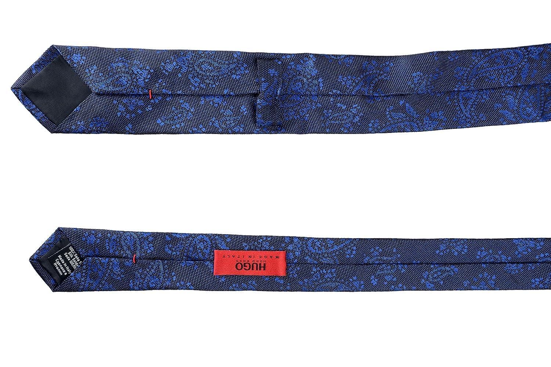 Hugo Boss Mens Multi-Color 100/% Silk Paisley Print Tie