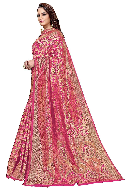 Pink Color Women's Kanchipuram Art Silk Saree
