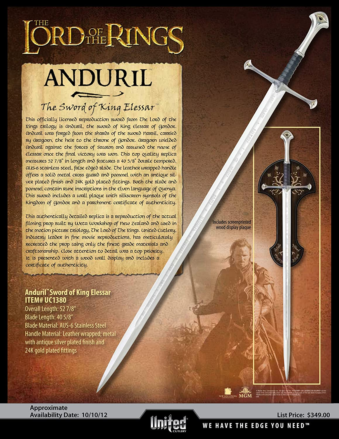 Lord of the rings swords for sale nz – Stijlvolle sieraden 2018