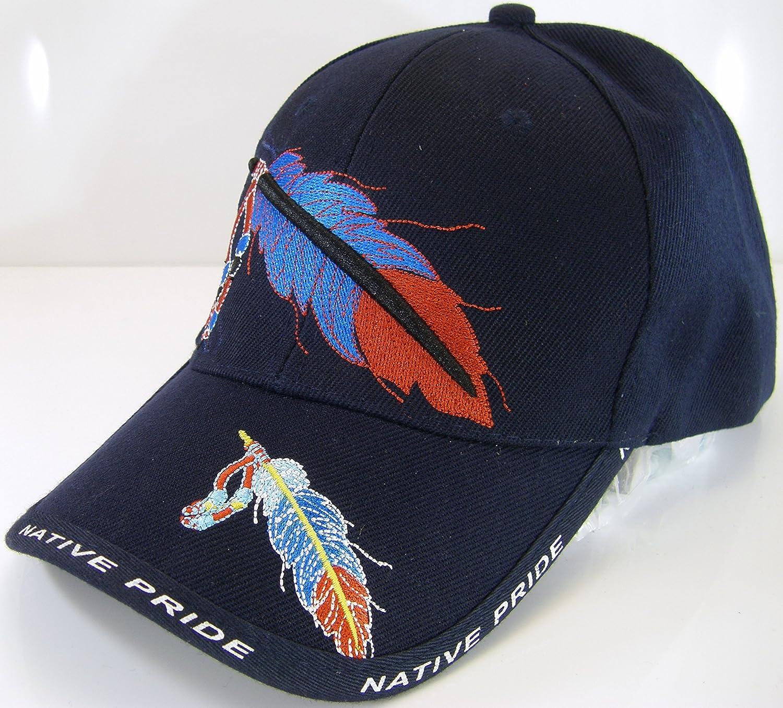 Native Pride Feather Men s Adjustable Baseball Cap (Black) at Amazon Men s  Clothing store  166121062a74