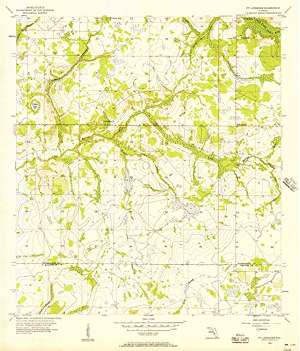 Topographical Map Of Florida.Amazon Com Florida Maps 1956 Ft Lonesome Fl Usgs Historical