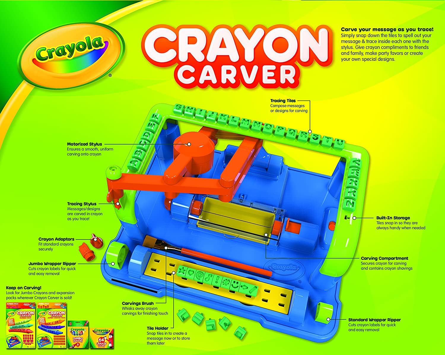 Amazon.com: Crayola Crayon Carver: Toys & Games