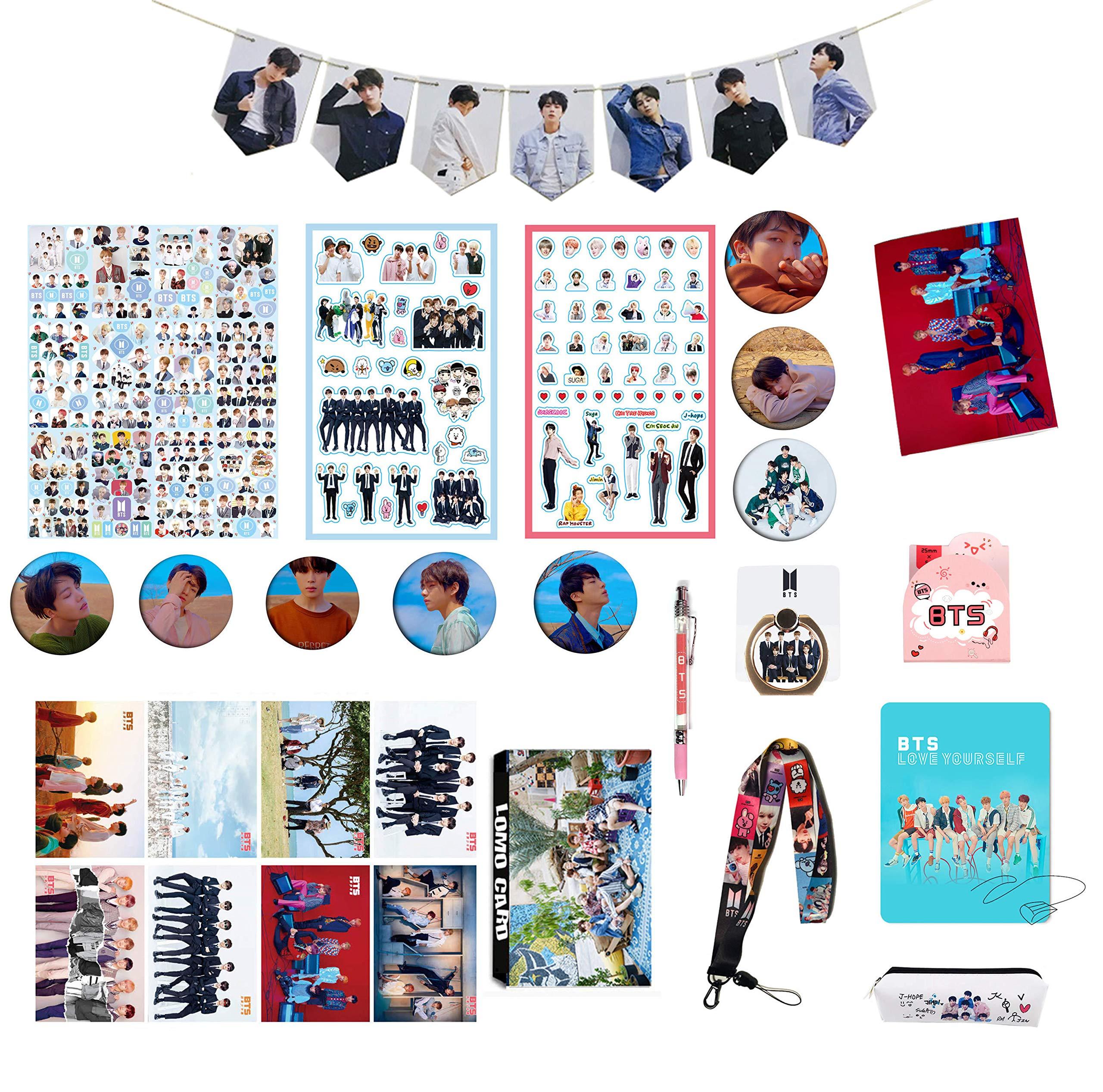 BTS Gifts Set for Army Bangtan Boys BTS Collectibles, BTS Pin, BTS Poster, BTS Sticker, etc (3)