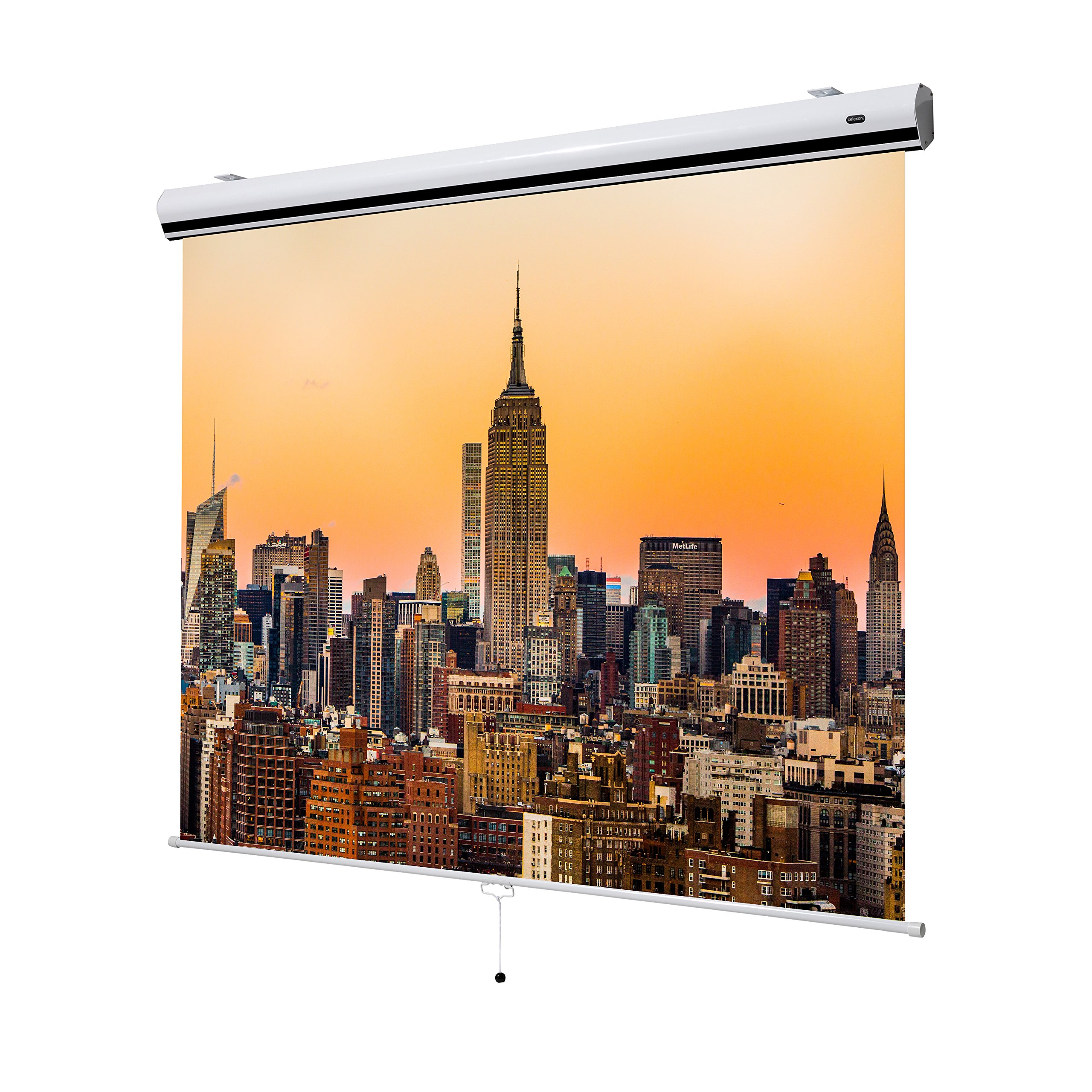 """celexon 147"""" Manual Pull Down Projector Screen Manual Expert Series 